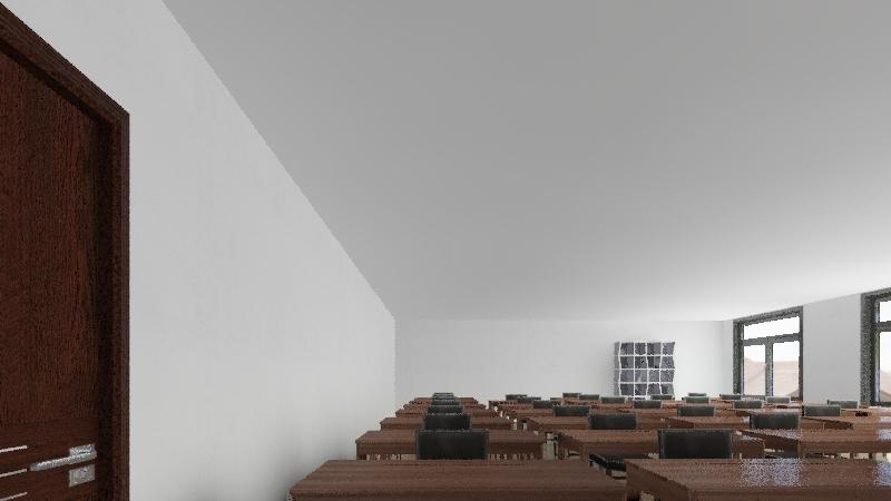 aula  Interior Design Render