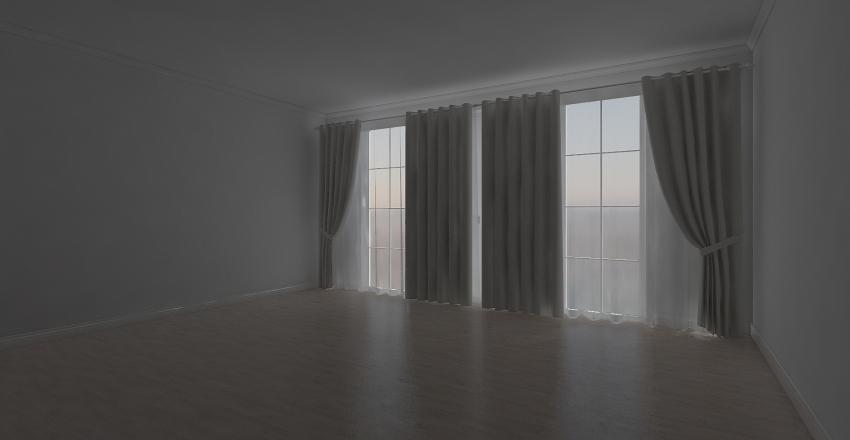 luxury bedroom in white Interior Design Render