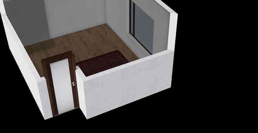 Sypialnia_Lozko_Krawce Interior Design Render