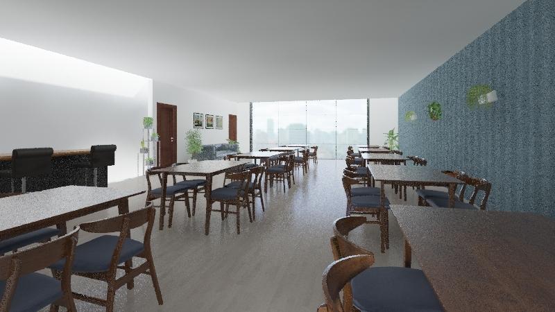 The Getaway Pub & Café Interior Design Render