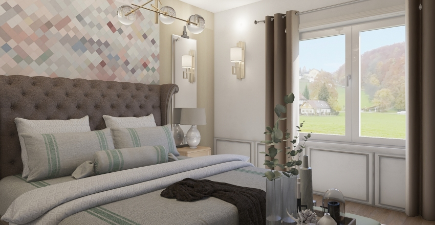 bedroom first Interior Design Render