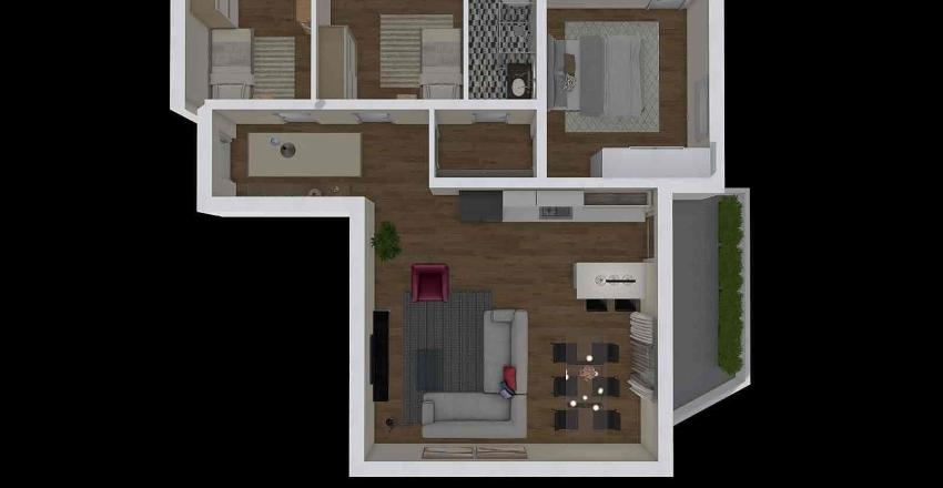 via pizzoferrato progetto 3 camere Interior Design Render