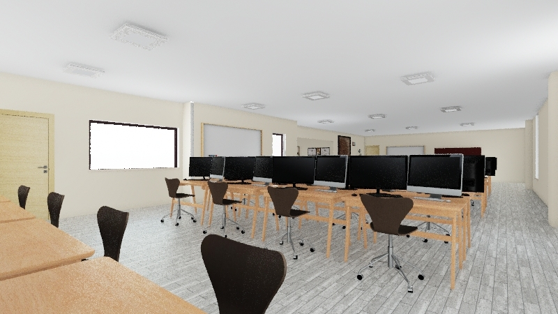 Drafting Room Interior Design Render