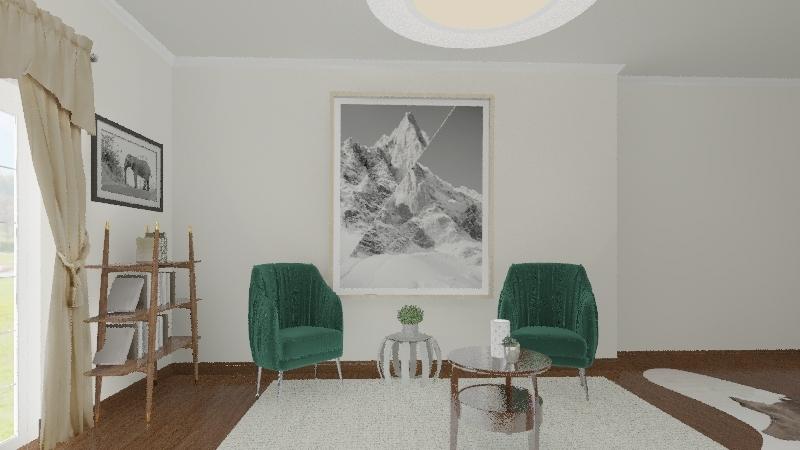 Symmetrical Interior Design Render