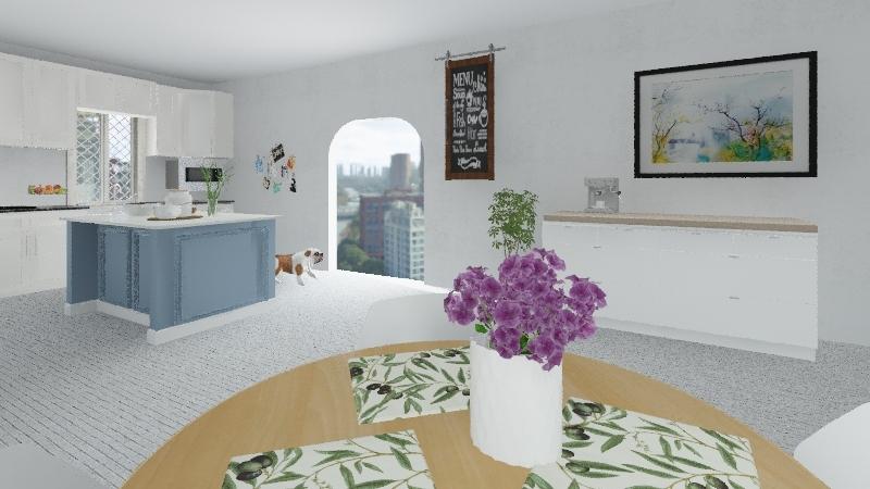 lilly ellie kitchen Interior Design Render