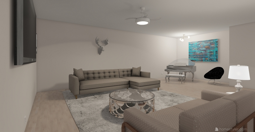 outline Interior Design Render
