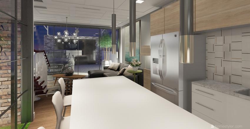 Casa com amplo aproveitamento de terreno Interior Design Render