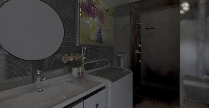 UN EX LABORATORIO DIVENTA UNA COMODA CASA Interior Design Render
