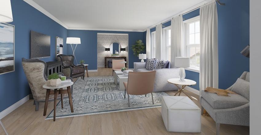 Powell Entry/Family Room 2 Interior Design Render