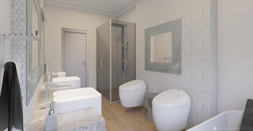 Alloggio Cuneo, via Vittorio Emanuele II Interior Design Render