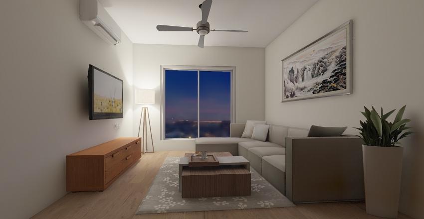 livi9ng room Interior Design Render