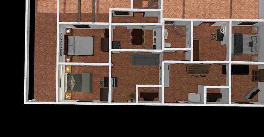 casa-1 e 2 - duas casas independentes - versao 2- com telhado Interior Design Render
