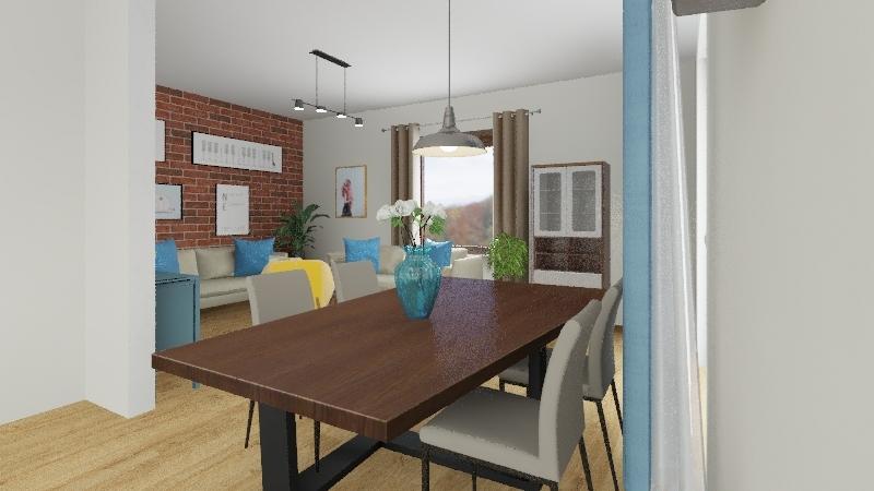 dudziak salon Interior Design Render