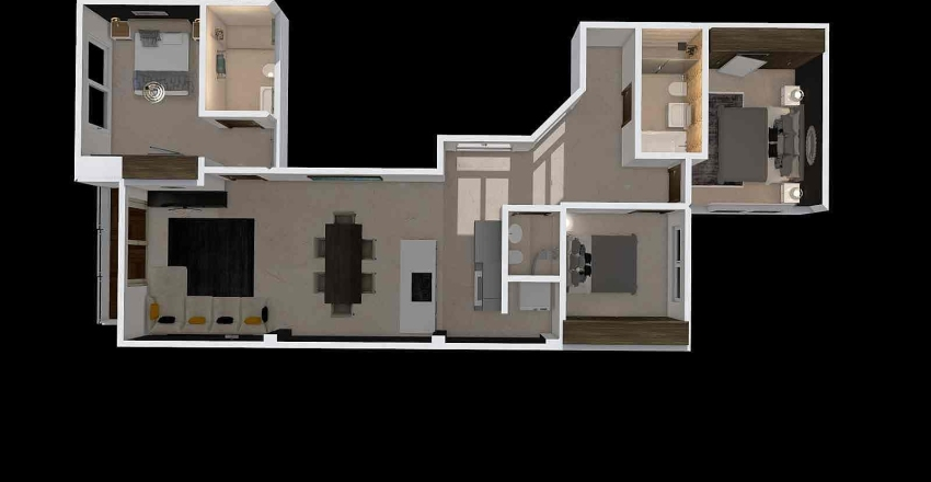 flat 2 0 top view Interior Design Render