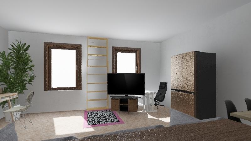 Bydlo po srovnani i s brevnovskym obyvakem Interior Design Render