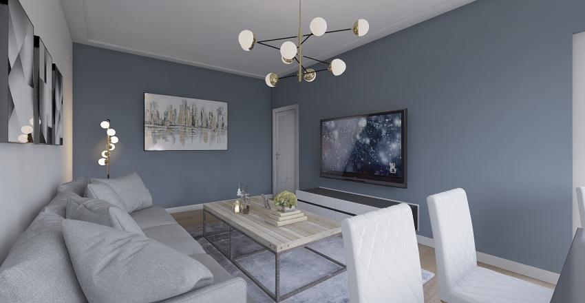 Living Room 6,5x3,5m Interior Design Render