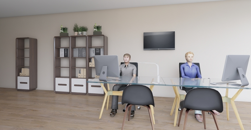 Bozza ufficio Interior Design Render