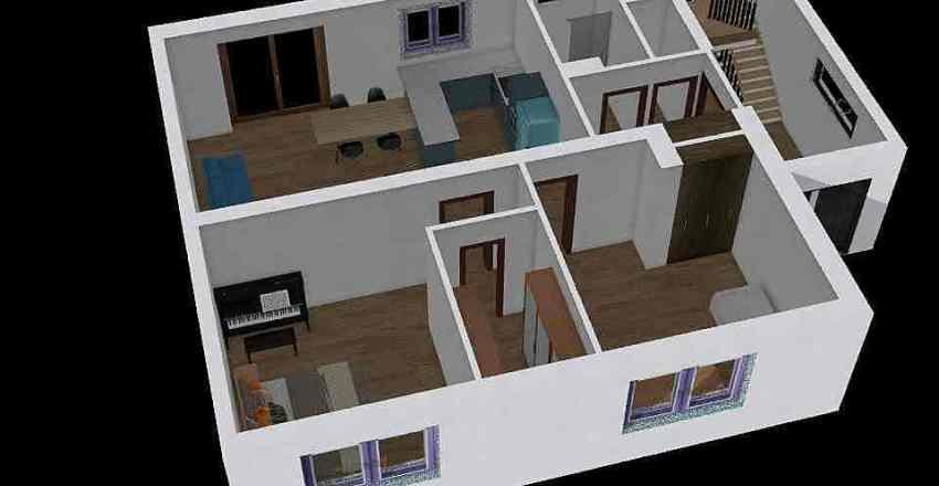 přízemí Interior Design Render