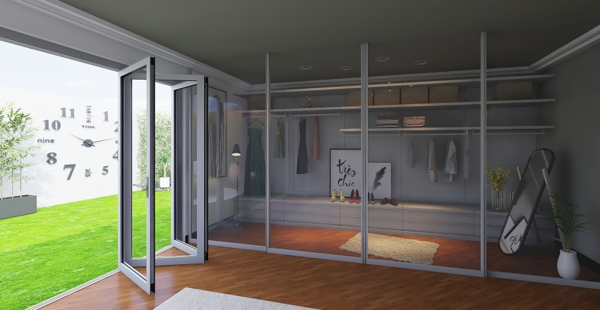 Simply Green House Interior Design Render