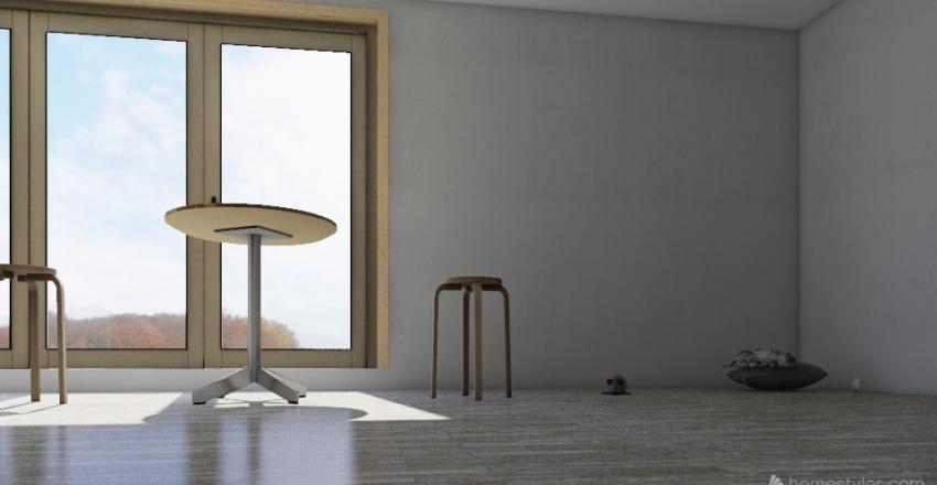 The Cat Cafe Interior Design Render