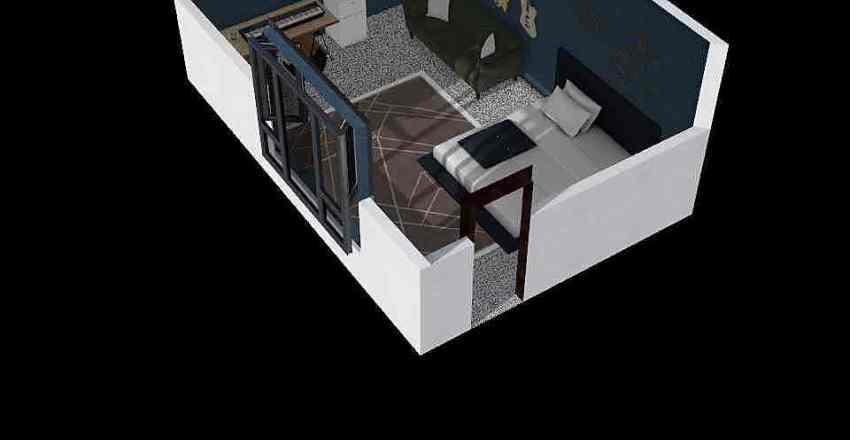 muziek kamer Interior Design Render