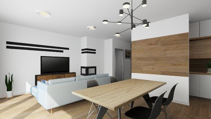Modern flat v.2 Interior Design Render