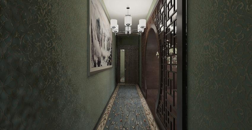 Asian Mix Interior Design Render