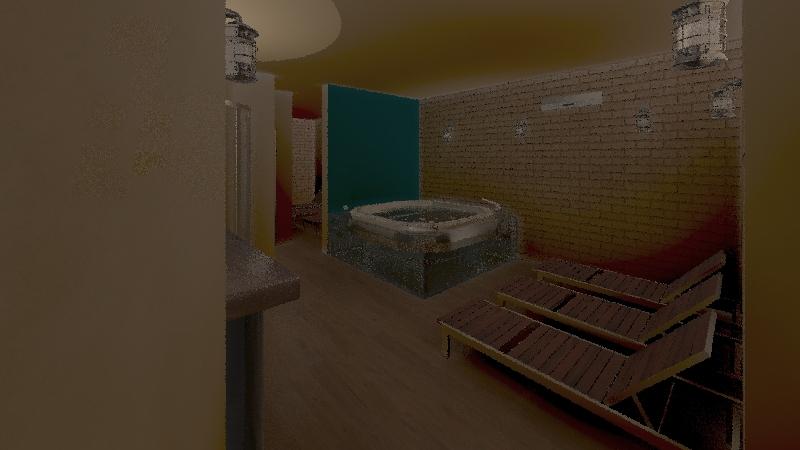 centro benessere Interior Design Render