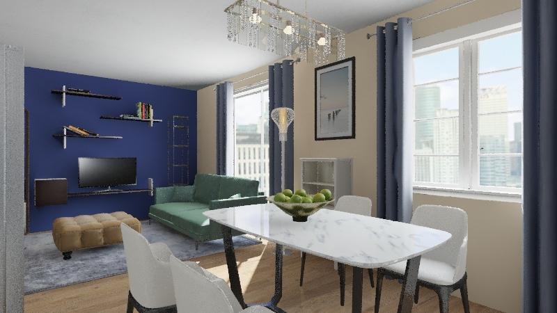 One bedroom apartment II Interior Design Render