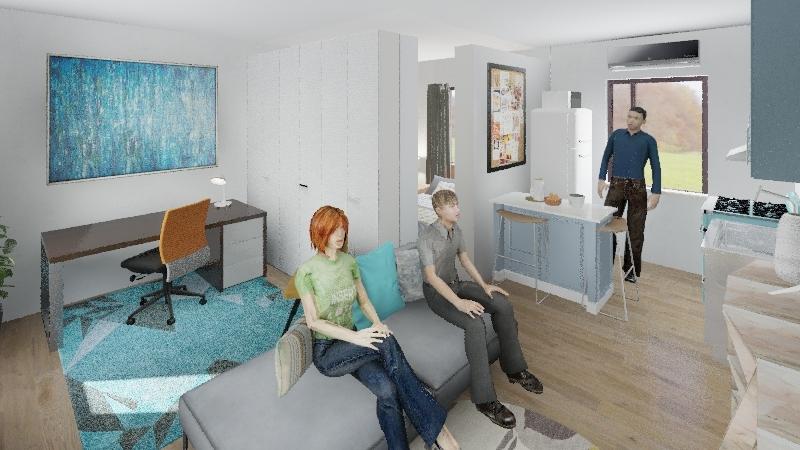 ADU_LZS Studio Interior Design Render