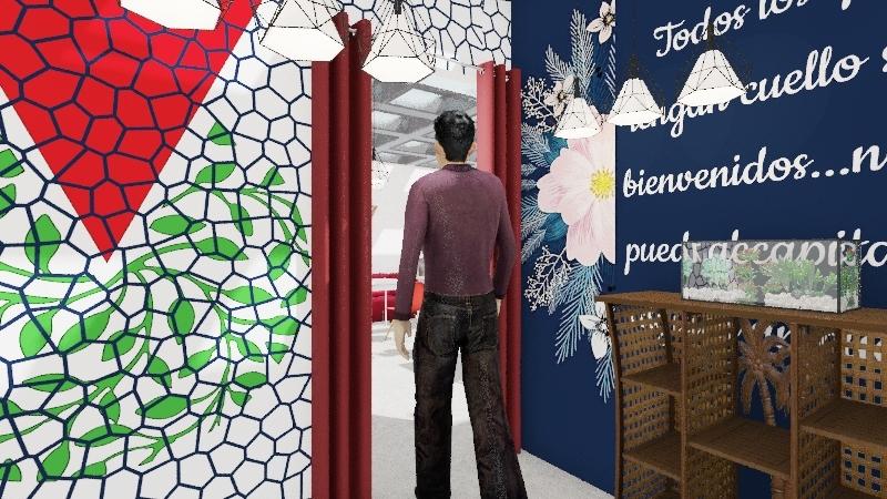 """Verduguería"" Parrillada Interior Design Render"