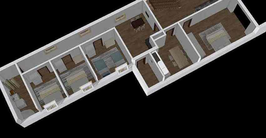 Robotnícka - prízemie 1 Interior Design Render