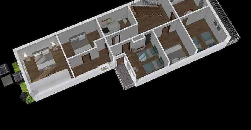 Robotnícka - poschodie 2 Interior Design Render