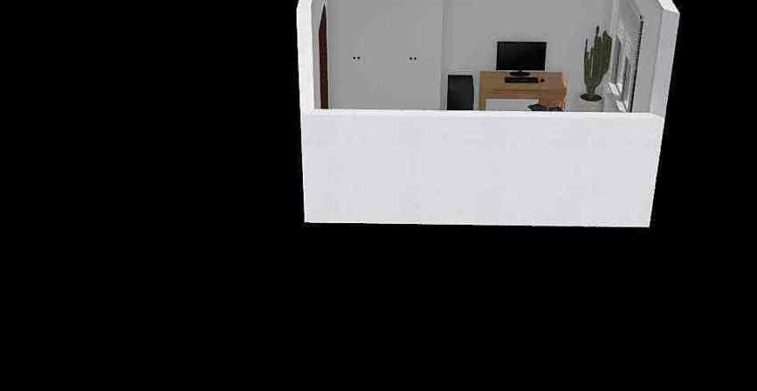 quest room & office Interior Design Render