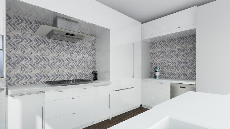 Planning the Service Area - Kitchen Interior Design Render