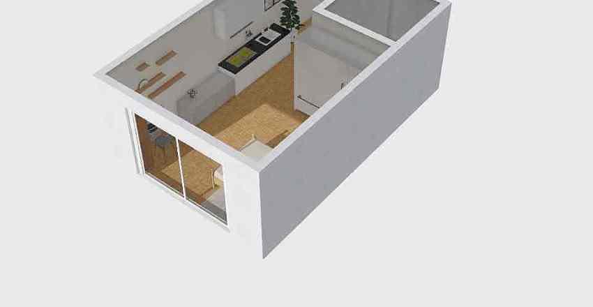 원룸 수정 문 1000 Interior Design Render