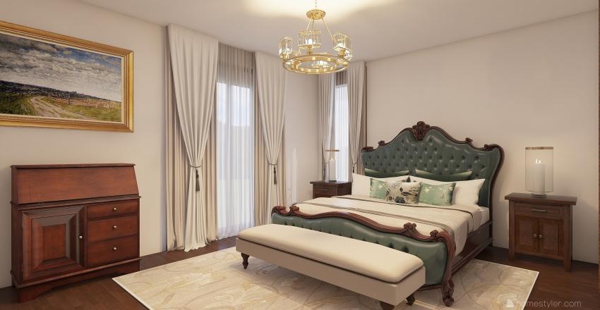 Habitación principal Interior Design Render
