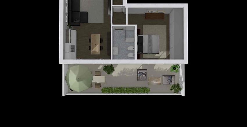 kilometro bilocale Interior Design Render