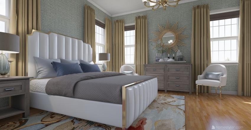 Serene Bedroom Interior Design Render