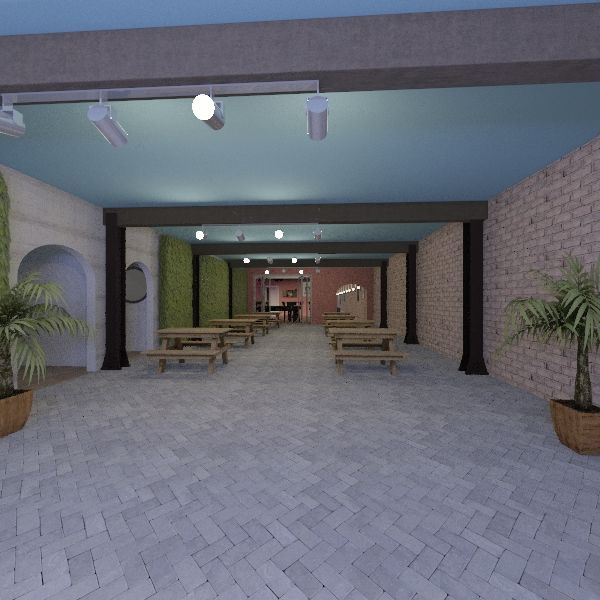 bier garden Interior Design Render