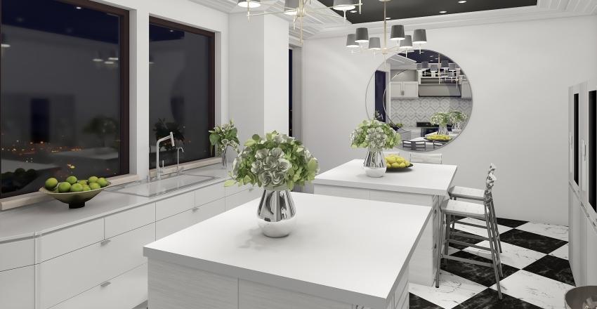 Kris Jenner Inspired Kitchen Interior Design Render