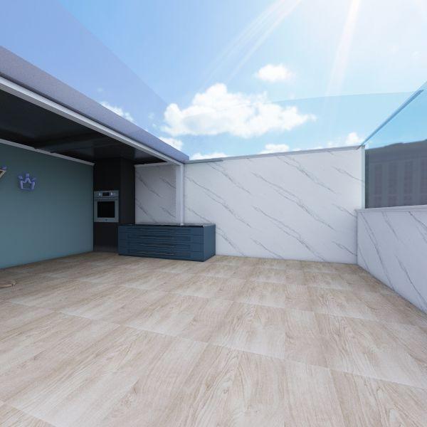 AREA GURMET ULTIMO ANDAR - FUNDOS HOME Interior Design Render