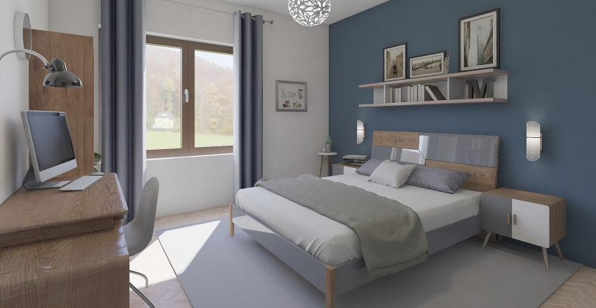 camera da letto matrimoniale  Interior Design Render