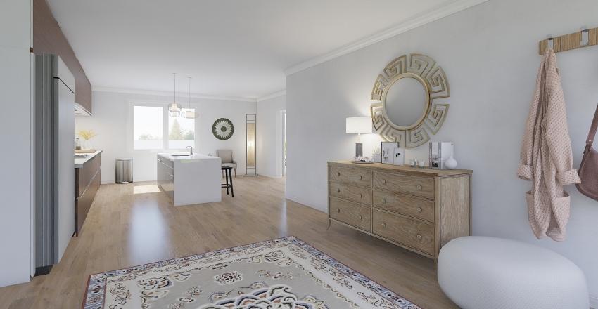 Simplistic Modern Home Interior Design Render