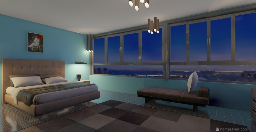 DOWNTOWN LOFT   Interior Design Render
