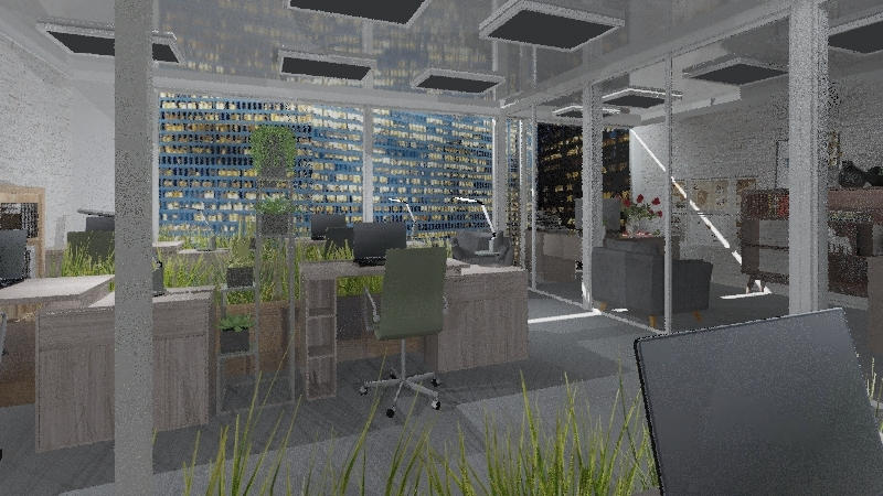 офис Interior Design Render