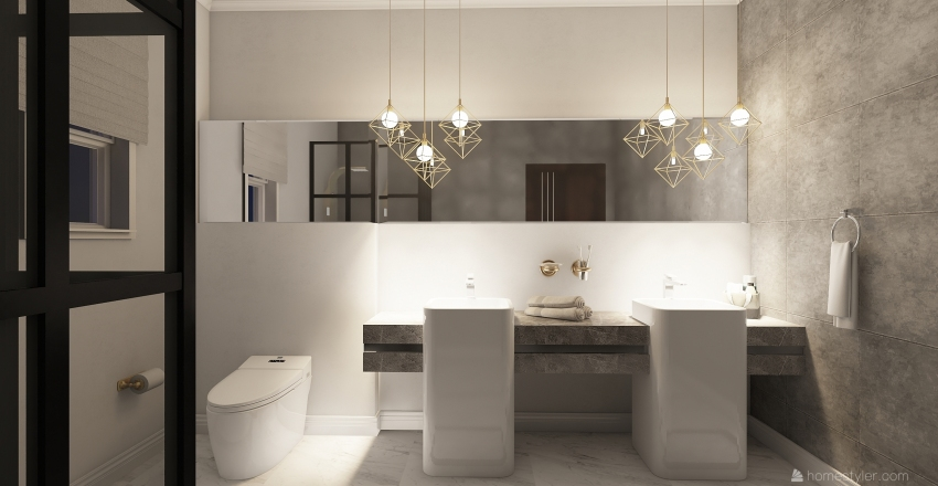 shower Interior Design Render