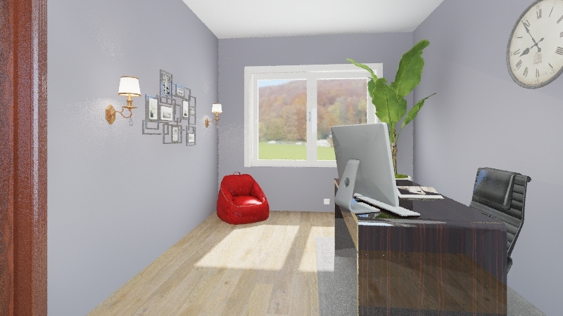 Office Room for ID Interior Design Render