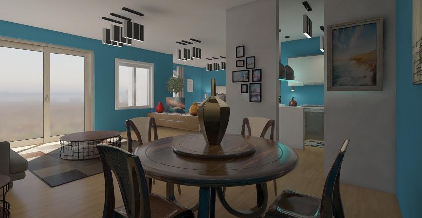 junior bedroom apartment Interior Design Render