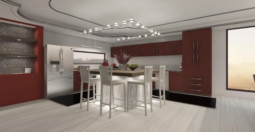 """H"" House Interior Design Render"